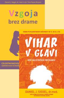 knjige <b>Vzgoja brez drame</b> in <b>Vihar v glavi</b>, moč najstniških možganov ter knjiga Celostni razvoj otroških možganov gratis