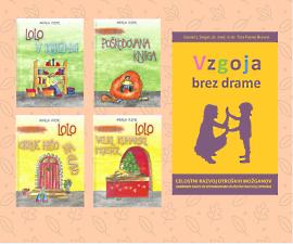 Knjigi Vzgoja brez drame in otroška slikanica Lolo