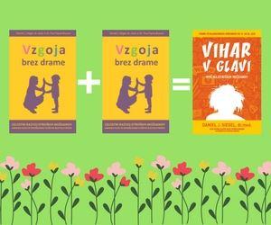 Paket 2+1: Dve knjigi Vzgoja brez drame in knjiga Vihar v glavi