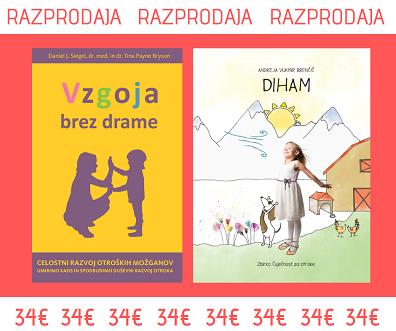 Otroška slikanica Diham iz zbirke Čuječnost za otroke in knjiga Vzgoja brez drame