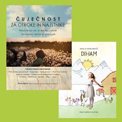 Čuječnost za otroke in najstnike in otroška slikanica DIHAM iz zbirke Čuječnost za otroke