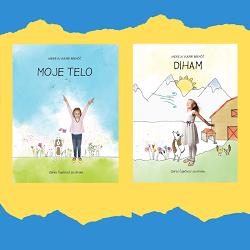 Otroški slikanici DIHAM in MOJE TELO iz zbirke Čuječnost za otroke