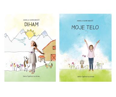 Otroški slikanici DIHAM in MOJE TELO