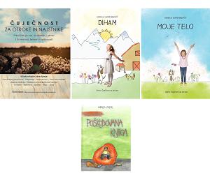 Paket knjig: Čuječnost za otroke in najstnike, slikanica DIHAM, slikanica MOJE TELO ter slikanica LOLO GRATIS